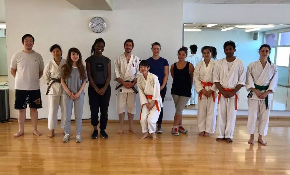 Beginners and helpers at one of our East London Kempo self-defence taster classes