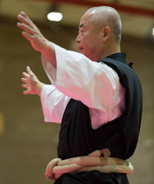 BSKF Chief Instructor Tameo Mizuno officiating at a tournament